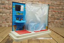 vintage Kinderspielzeug Puppenstube Bad  50er Puppenhaus Badezimme Barbie Blech
