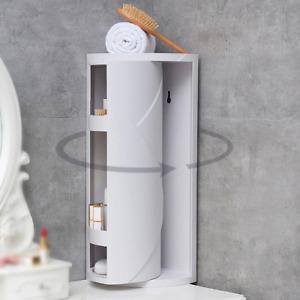 360 Degree Rotating Bathroom Organizer Shelf Wall Mounted Shampoo Cosmetic Stora