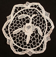 "12 Antique Goblet 5-1/4"" Round Needlelace Cocktail Coasters"