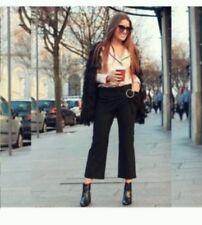Zara Noir Pantalon jupe-culotte avec FRONT Rond Boucle Taille M Rrp £ 40