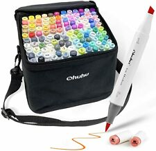 Ohuhu Marker Pen For Comics Oily Thick Both Ends Art Supplies case new comic
