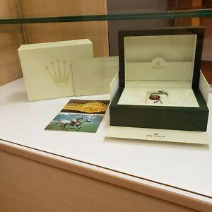 Genuine Rolex Datejust watch box case wave