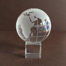 Glas Globus Weltkugel Kristall Deko Erdkugel Paperweight Briefbeschwerer Ø 80mm