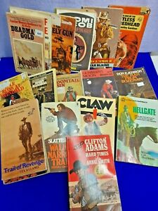 60 Western Novels- Various Authors, Titles. Paperback.