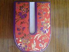 "Punch Studio Diecut Flowered INITIAL ""U"" Magnetic Closure 75 Sheet Note Pad"