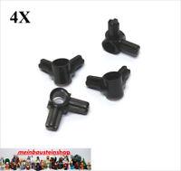 4X Lego® 10197 Technic Achs- Pin Eck-Verbinder 90° Schwarz Black NEU