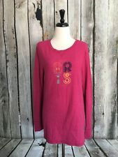 Old Navy Women's XL Top Pink San Fran Waffle Knit Thermal Long Sleeve Stretch