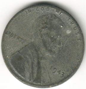USA - 1 Cent - 1943P - #2 - Steel - Lincoln Wheat Ears Reverse