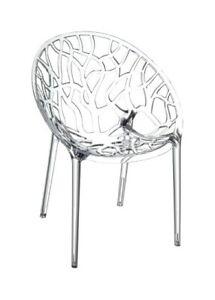 4 chaises round transparentes en Polycarbonate neuve design Crystal PC starck