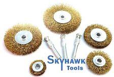 "8-pc Wire Wheel Brush Assorted Metalworking Polishing Set Arbor Size 1//4/"""