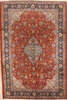 Wool Rug 7x10 Floral Hand-Knotted Oriental Mahal Area Carpet