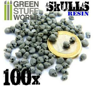 Green Stuff World 1:35 (1:48-1:76) Scale 100 Resin Skulls - Scenery