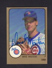 Dave Masters 1988 Iowa Cubs Autographed Signed w/COA jh55