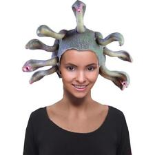 Medusa Latex Headpiece Wig Snake Fancy Dress Halloween Adult Costume Accessory