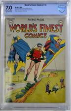 WORLD'S FINEST COMICS #46 CBCS 7.0 Superman Batman 1950 CGC Only 3 Higher Graded