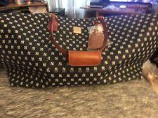 Dooney & Bourke MLB NY Yankees Logo White Medium Duffel Bag