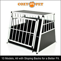 Aluminium Car Dog Cage Cozy Pet Travel Puppy Crate Pet Carrier Transport ACDC04