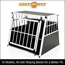 Aluminium Car Dog Cage Cozy Pet Travel Puppy Crate Pet Carrier Transport ACDC04