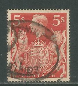 Great Britain 1939-42 King George VI 5sh dull red (250) fine used
