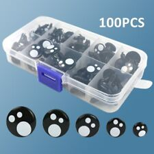 100Pcs Black Plastic Safety Eyes For Doll Animal Soft Toy Making 8/10/12/14/16mm