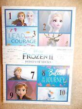 Disney Frozen II Girl's 10 Days of Socks Shoe Size 6-10.5