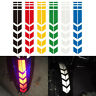 Motorcycle Car Reflective Arrow Decals Rim Stripe Tape Stickers Wheel On Fender