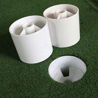 GI- Plastic Golf Green Hole Cup Flag Stick Practice Putting Putter Backyard Trai