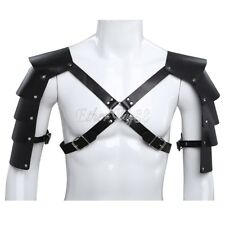 UK Mens Faux Leather Body Chest Strap Harness Club  Costume Armors Shoulder