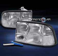 1998-2004 GMC SONOMA CRYSTAL REPLACEMENT HEADLIGHTS CHROME W/BLUE DRL LED SIGNAL