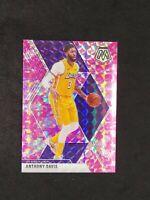 2019-20 Mosaic Anthony Davis Pink Camo Prizm No. 18 Lakers