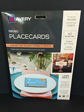 Avery Printable Placecards 40 Matt White (982504)