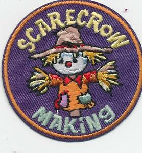 Girl Boy Cub SCARECROW MAKING Decorating Fun Patches Crest Badge SCOUTS GUIDE