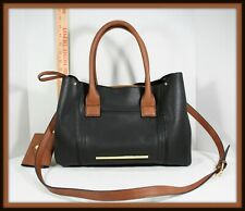 Steve Madden Purse Black Leather Brown insert with coin purse and cell pocket