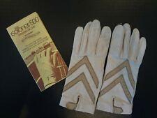 Vtg 1960's Ladies Aris 500 Isotoner Driving Gloves W/Original Paperwork/Insert