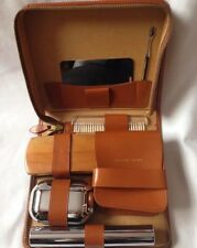 Man Dressing Table Set With Leather Case Made In England