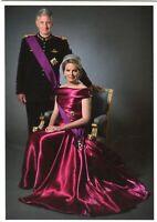 ~~~ ORGINAL~~~ POSTKARTE ~~~ aus Belgien König Philippe und Königin Mathilde