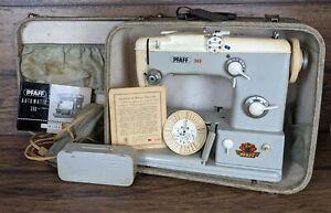 Vintage PFAFF 360 Sewing Machine w Foot Pedal & Accessories Free-Arm GERMANY 261
