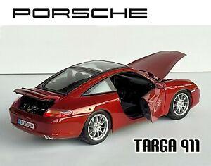 Porsche 911 Targa, Burgandy Metallic, 1/18 Maisto (no scratches)