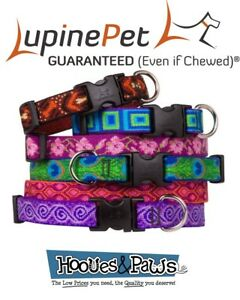 "Dog Collar Lupine Pet Lifetime Adjustable 1/2"" 3/4"" or 1"" Puppy Original Designs"
