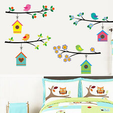 Bird House Branch Removable Wall Sticker Vinyl Decal Kids Nursery Decor Mural