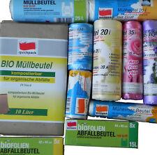 10-60L Müllbeutel mit/ohne Bio,Papier,Mülltüten,Tüten,Beutel,Abfallbeutel + Duft