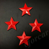 4pcs 3D Red Metal Pentacle Pentagram CPC Car Trunk Emblem Badge Decal Stickers