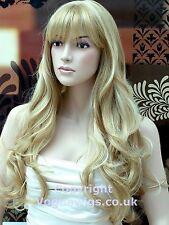 Extra Long Ladies Blonde Wig Strawberry & Platinum Blonde Blend. VOGUE Wigs UK !