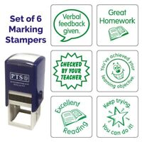 Mixed Marking Feedback Stamps Primary School Teaching Green 25MM x 6