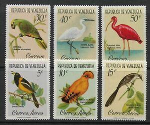 STAMPS-VENEZUELA. 1961. Birds Set. SG: 1694/99. Mint Never Hinged.