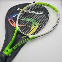 Head Ti Agassi Pro Tennis Racquet 4 5/8-3 Grip Size Black Florescent Green White