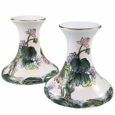Toyo Water Lilies Candle Holders Candleholders Candlesticks Hand Painted Macau
