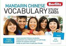 Mandarin Chinese Vocabulary Study Cards, Berlitz, 981268915X, Book, Good