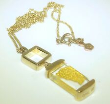 "RARE  Welsh Clogau 9CT Yellow Gold Designer Pendant Chain (18 "")"