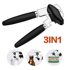 3-in-1 Tin Can Opener Beer Bottle Cutter Hand GripHeavy Duty Kitchen Multi-tool